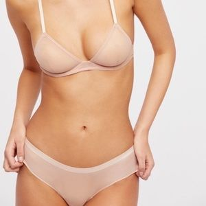 NWT Free People Small Nude Hipster Panty Undie